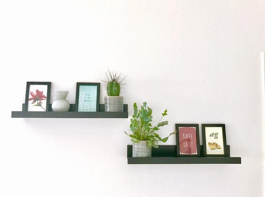 Vægdekoration: billedhylder med postkort – billigt!