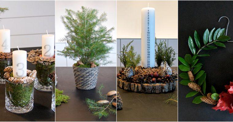 Naturlig, nordisk jul – gratis DIY dekorationer